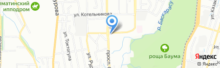 Амалия на карте Алматы