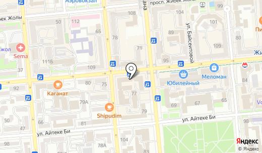 Finance & Law Express Consulting. Схема проезда в Алматы
