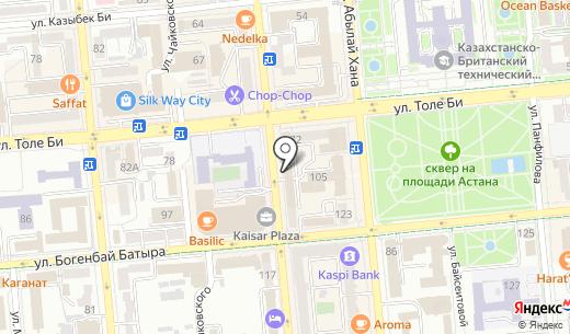 Fati`S. Схема проезда в Алматы