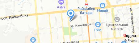 Пиросмани на карте Алматы