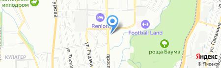 Ак Булак на карте Алматы
