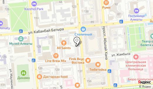 Артист. Схема проезда в Алматы