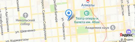 Колесо на карте Алматы