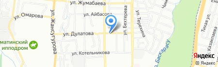 Интернет-кафе на ул. Дулатова на карте Алматы