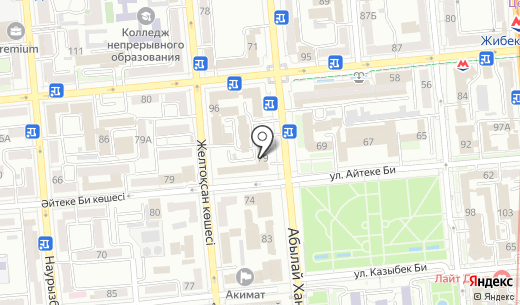 АЙКЫН-ЛИТЕР. Схема проезда в Алматы