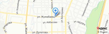 Продовольственный магазин на ул. Жумабаева на карте Алматы