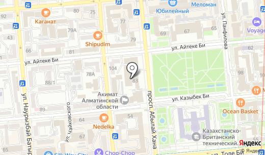 SB. Схема проезда в Алматы