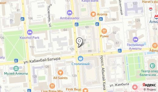 МиГ. Схема проезда в Алматы