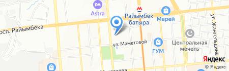 Мозаика Д на карте Алматы
