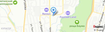 Нотариус Алмабеков А.С. на карте Алматы