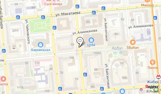 Касса по продаже театральных билетов. Схема проезда в Алматы