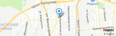 Север на карте Алматы