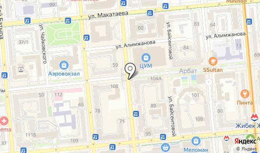 Red Dragon Almaty. Схема проезда в Алматы