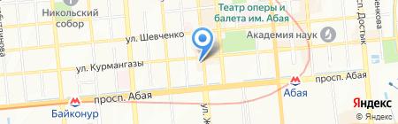 Второе Дыхание на карте Алматы
