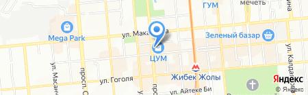 ЦУМ Зангар на карте Алматы