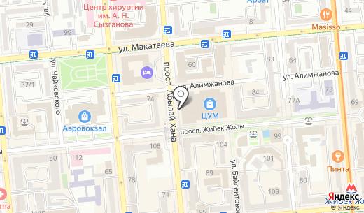 Assos Diamond Кazakhstan. Схема проезда в Алматы