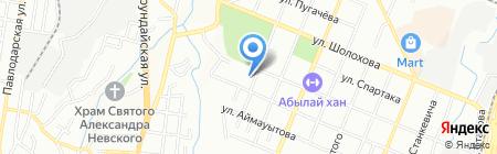 Алматинская областная школа-интернат №15 на карте Алматы