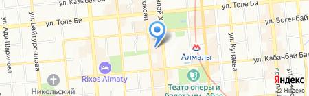 Интернет-клуб на проспекте Абылай хана на карте Алматы
