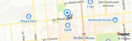Алатим на карте Алматы