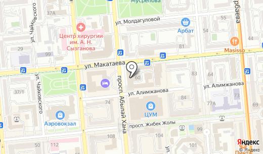 Сервисный центр. Схема проезда в Алматы