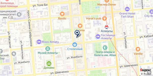 ЮНОНА на карте Алматы