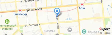 Казахстан Республиканская телерадиокорпорация на карте Алматы