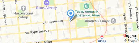 Milan на карте Алматы
