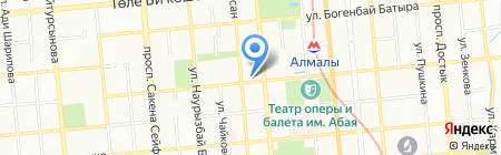 Жаным на карте Алматы