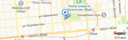 Bugatti на карте Алматы