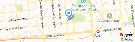 Нотариус Каленова А.Д. на карте Алматы