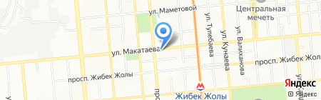 Ашир-Али на карте Алматы