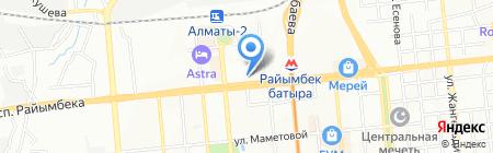 Отдел по ЧС Алмалинского района ДЧС г. Алматы на карте Алматы