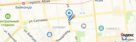 Адвокатская контора Зайруллиной З.Н. на карте Алматы