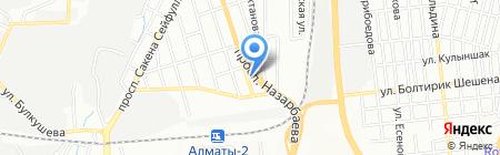 Анель на карте Алматы