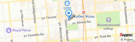 Комитет местного самоуправления округа №5 Алмалинского района на карте Алматы