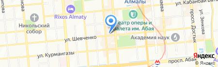 Темирбанк на карте Алматы