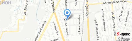 Магазин лакокрасочных материалов и сухих строительных смесей на карте Алматы