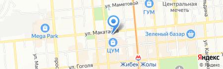 Алма Домофон на карте Алматы