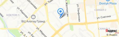 AFD PLAZA жилой комплекс на карте Алматы