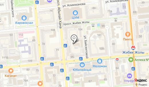 КупиКупон. Схема проезда в Алматы
