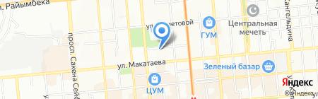 Тоты на карте Алматы