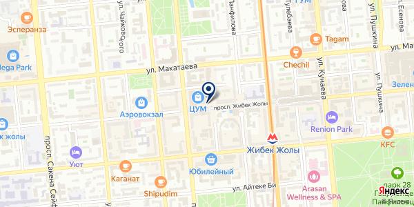 Колесо времени на карте Алматы