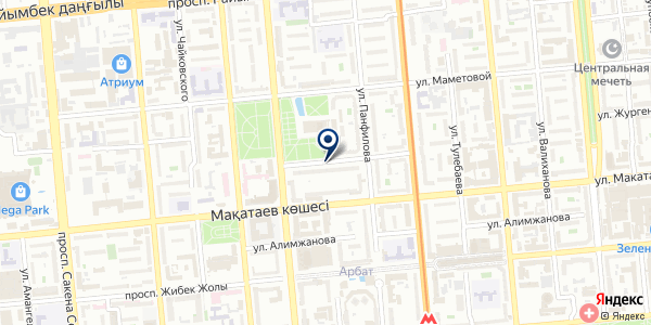 Элит на карте Алматы