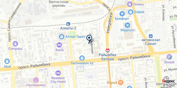 Альянс Азия на карте Алматы