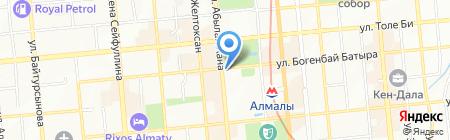Казахская национальная консерватория им. Курмангазы на карте Алматы