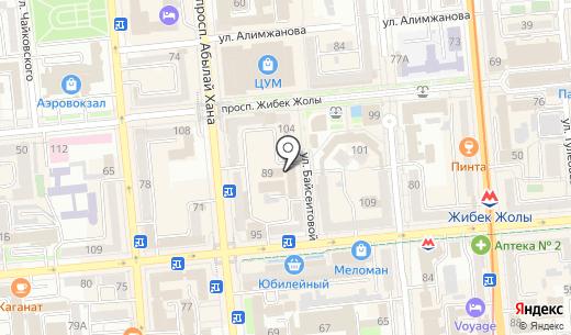АРТ. Схема проезда в Алматы