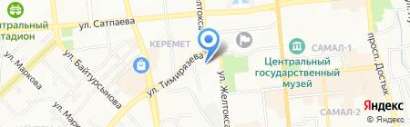 Хабар АО на карте Алматы