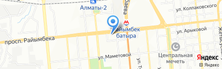 Самбак на карте Алматы