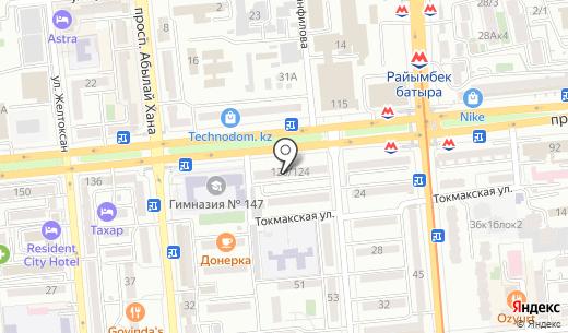 Самбак. Схема проезда в Алматы