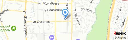 Монетка на карте Алматы